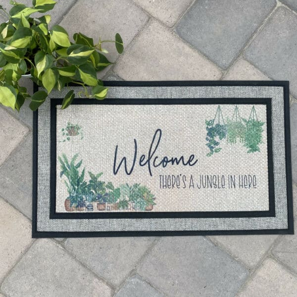 Welcome, There's a Jungle in Here Door Mat, Plantly