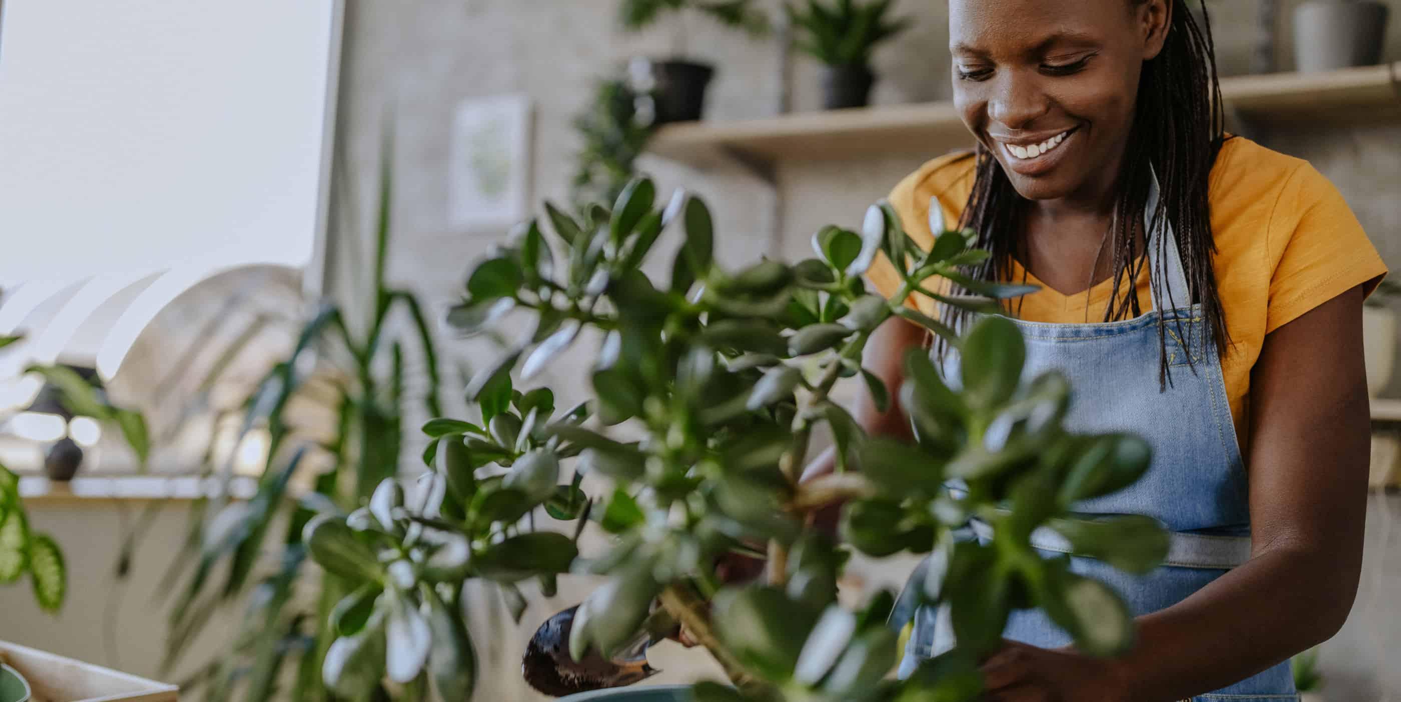 black-female-gardener